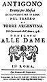 Christoph Willibald Gluck - Antigono - titlepage of the libretto - Rom 1756.jpg
