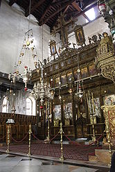 Church of the Nativity iconostasis 2010 9.jpg