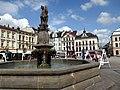 Cieszyn, Rynek z fontanną św. Floriana.jpg