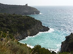 The coast of Cilento nearby Marina di Camerota