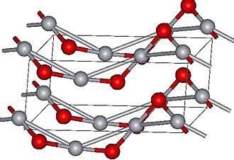 Mercury(II) oxide - Cinnabar structure