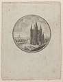 Circular view of the Conciergerie with hidden silhouettes of the Royal family in the clouds Met DP886281.jpg