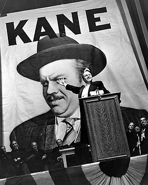 Citizen Kane - Favored to win election as governor, Kane makes a campaign speech at Madison Square Garden