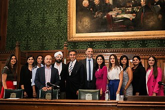 City Sikhs - The City Sikhs annual Recipes for Success 2018 taking place in Parliament. Picture showing volunteers and the speakers.
