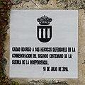 Ciudad Rodrigo, Placa comemorativa 2010.jpg