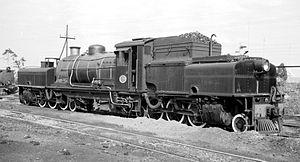 South African Class GDA 2-6-2+2-6-2 - No. 2255, Stanger Depot, 8 September 1966