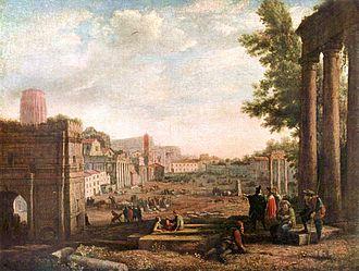 "Roman Forum - Claude Lorrain's 1636 ""Campo Vaccino"" (Louvre, Paris)"