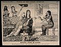 Cleopatra's doctor taking her pulse and telling her off for Wellcome V0011488.jpg