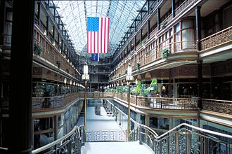 Cleveland Arcade - Looking down the length of The Arcade