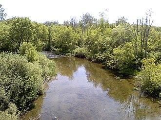 Clinton River (Michigan) - The Clinton River in Macomb County