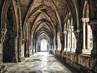 Beatrice of Castile (1293–1359) - Cloisters of Lisbon Cathedral where King Ferdinand IV and Beatrice of Castile were buried