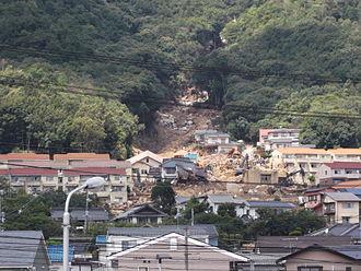 2014 Hiroshima landslides - Landslide damage
