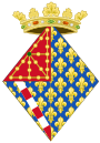 Coat of Arms of Joan of Valois, Queen Consort of Navarre.svg