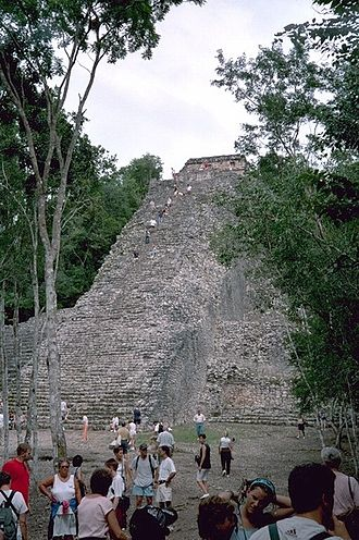 Coba - Nohoch Mul Pyramid, Cobá.