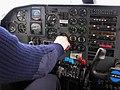 Cockpit BN-2 Islander 2006-05-25 Iceland Hólmahverfi.jpg