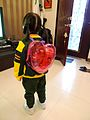 Coke and sweets in the Heart-shaped semitransparent Backpack for Kids Ensoku.jpg
