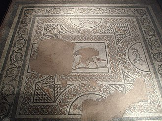 History of Colchester - Roman Mosaic found at the Middleborough House, Colchester