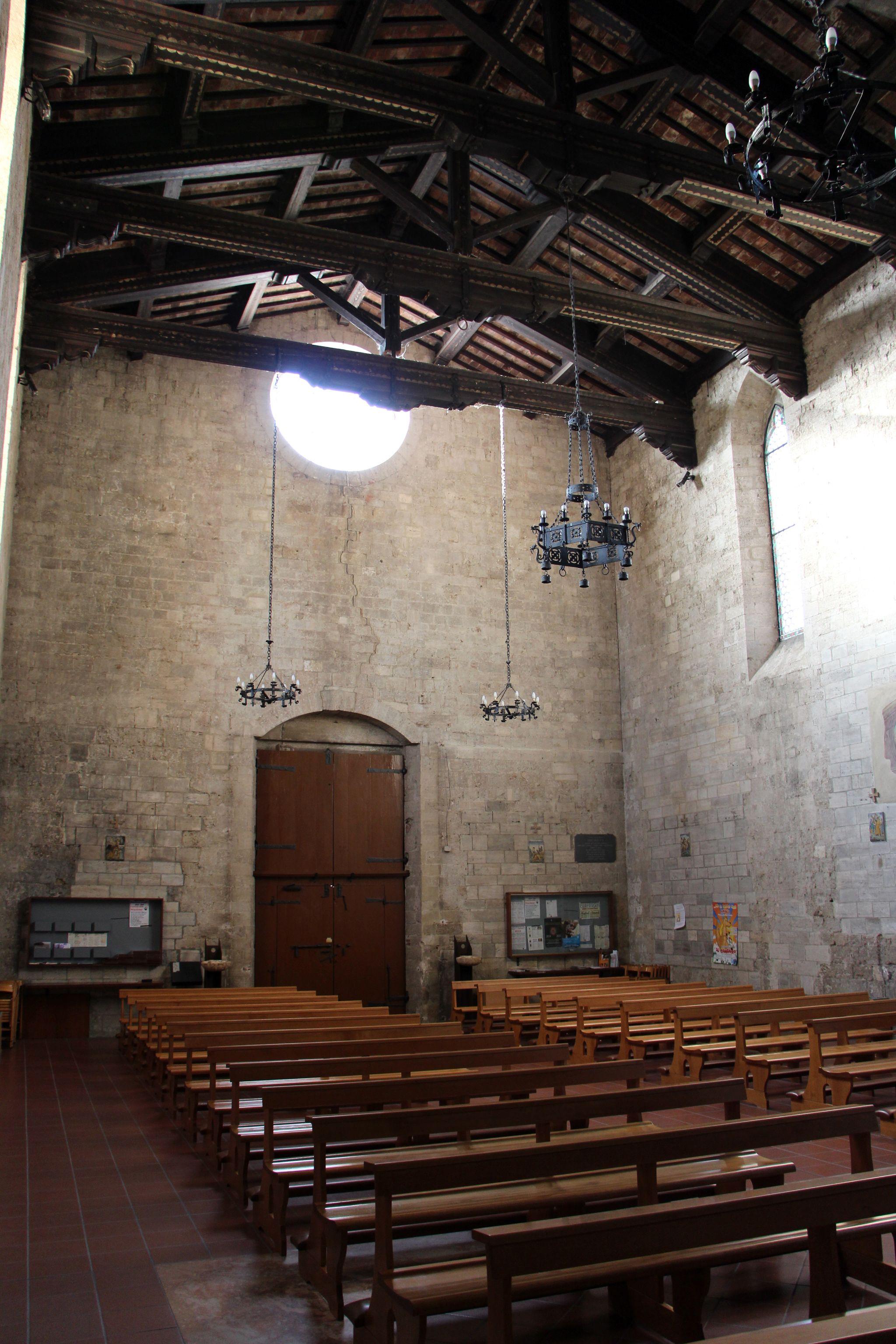 Collegiata di Sant'Agata (Asciano), interiore, controfacciata