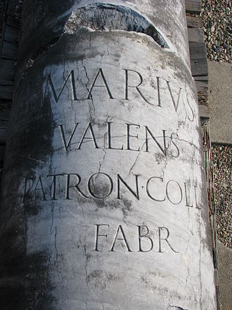 Ulpia Traiana Sarmizegetusa - Image: Colonia Dacica Sarmizegetusa 2011 Inscription on the Forum Column