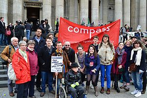Compass (think tank) - Compass members at an anti-austerity event