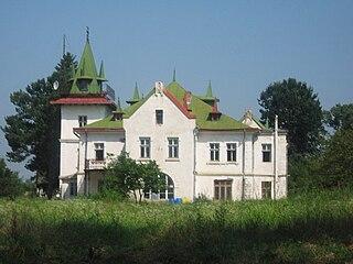 Salcea Town in Suceava, Romania