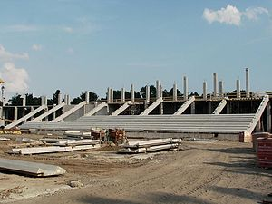 Nagyerdei Stadion - Construction of Nagyerdei Stadion in June 2013