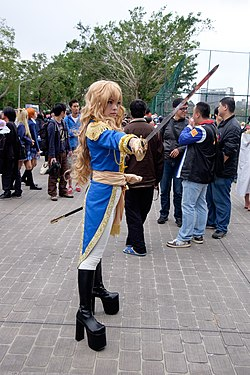 Cosplayer of Oscar François de Jarjayes, The Rose of Versailles at CWT41 20151212a.jpg