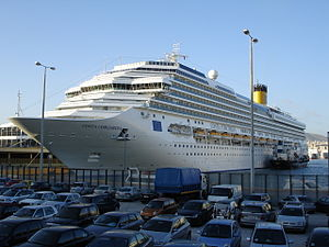 Costa Concordia - Costa Concordia in Piraeus, Greece on November 30, 2006