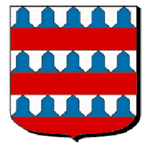 Vair - Barry of six vair and gules, arms of the Lords of Coucy