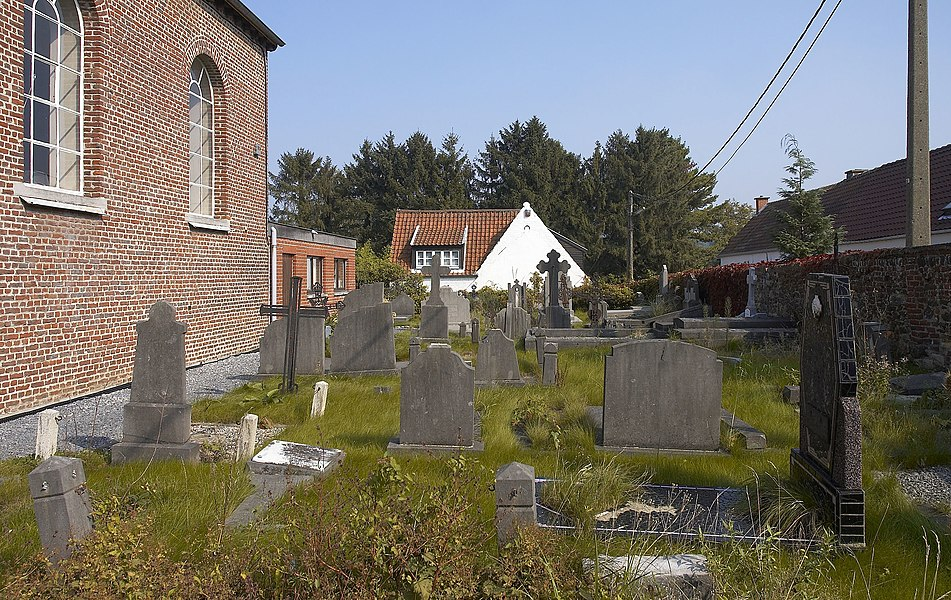 Cemetery of the Saint-Germain church in Couture-Saint-Germain (Lasne), Belgium