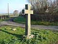 Cross at Fox Lane Ends, Wrea Green - geograph.org.uk - 699029.jpg