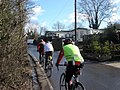 Cyclists in Newyears Green, Middlesex.jpg
