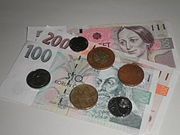 Czk- coins and banknotes