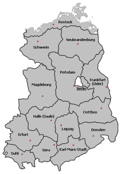 kart av tyskland Den tyske demokratiske republikken   Wikiwand kart av tyskland