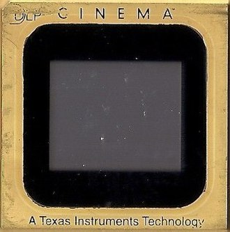 Microelectromechanical systems - A Texas Instruments DMD chip for cinema projection