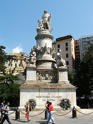 Columbus Day - Monument to Christopher Columbus in Genoa, Italy