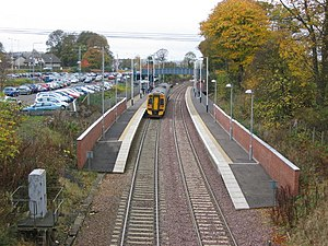 Dalgety Bay railway station - Image: Dalgety Bay Railway Station geograph.org.uk 599243