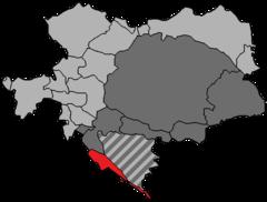 Kongeriget Dalmatien i rødt.