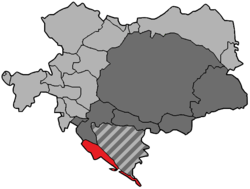 Dalmatia (red) in Austria-Hungary, 1914