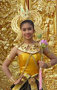 cc356e8b9 Thai clothing style of Lopburi period influenced by the Khmer Apsara.