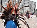 Danzas prehispánicas en la Plaza de las Tres Culturas - Nonoalco Tlatelolco, Ciudad de México.jpg
