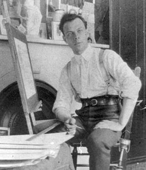 David Milne (artist) - Milne in his New York City studio, 1909