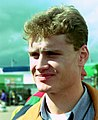 David Coulthard in the paddock for the 1993 British Grand Prix (33645946546) cropped.jpg