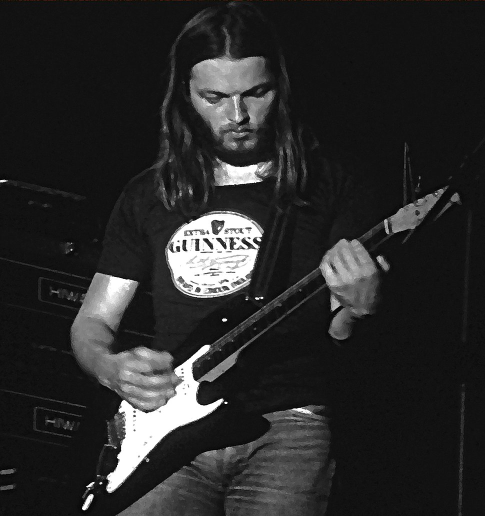 David Gilmour and stratocaster