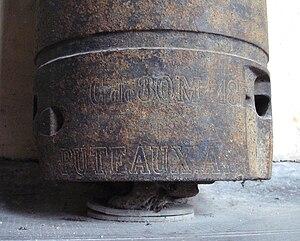 De Bange 80 mm cannon - Image: De Bange 80mm Mle 1877 breech