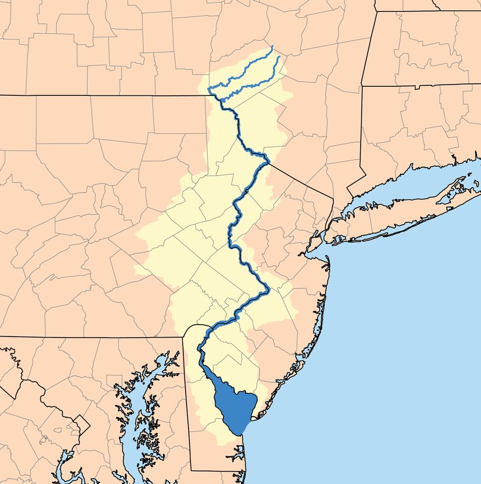Delawarerivermap