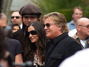Don Johnson - Don Johnson with Demi Moore and Ashton Kutcher at the Hollywood Walk of Fame in 2006