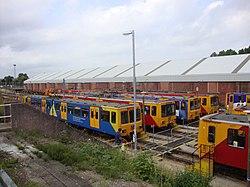 Depot yard, Tyne and Wear Metro depot open day, 8 August 2010 (1).jpg