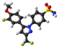 Deracoxib molecule ball.png