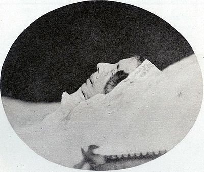 Photograph at her deathbed Desideria of Sweden & Norway dead 1860.jpg